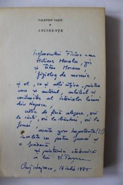 Valentin Tascu - Incidente (volum de debut, cu autograf)