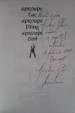 Aurelian Titu Dumitrescu - Aproape tac, aproape plang, aproape sint (cu autograf)