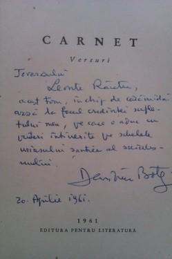 Demostene Botez - Carnet (cu autograf)