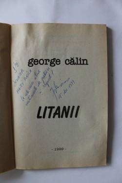 George Calin - Litanii (cu autograf)