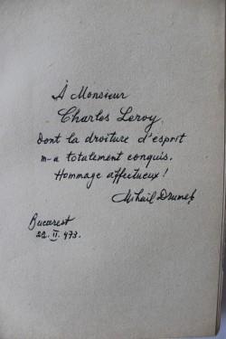 Mihail Drumes - Orgueil insense (cu autograf, editie in limba franceza)
