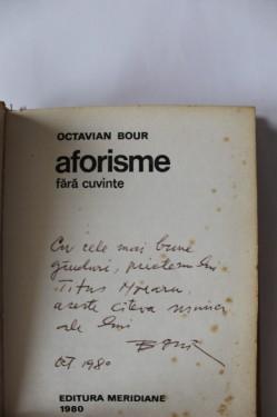 Octavian Bour - Aforisme fara cuvinte (mic album, cu autograf, editie hardcover)