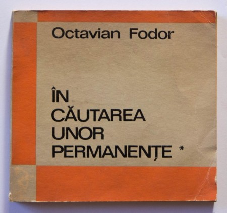 Octavian Fodor - In cautarea unor permanente I