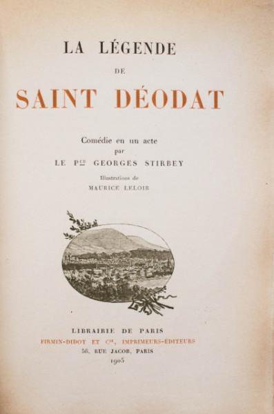 Prince Georges Stirbey - La legende de Saint Deodat