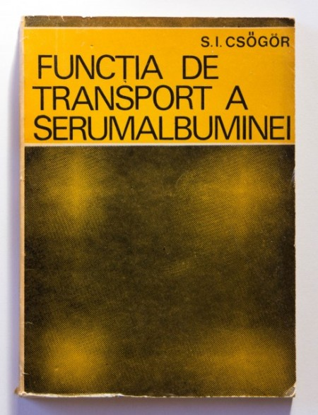 S. I. Csogor - Functia de transport a serumalbuminei