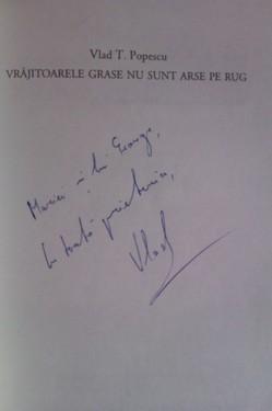 Vlad T. Popescu - Vrajitoarele grase nu sunt arse pe rug (cu autograf)