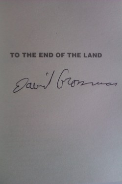 David Grossman - To the end of the land (cu autograf/signed edition)