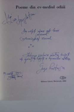 George Vulturescu - Poeme din Ev-mediul odaii (cu autograf)