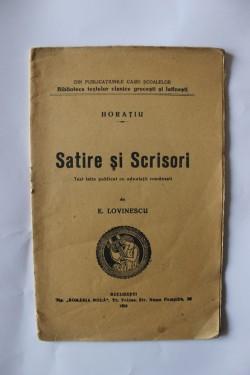 Horatiu - Satire si scrisori (editie interbelica)