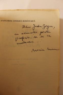 Marin Mincu - Avangarda literara romaneasca (cu autograf)