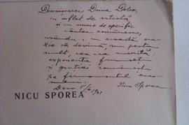 N. Sporea - Poezii (cu autograf)