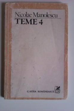 Nicolae Manolescu - Teme 4