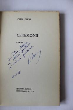 Petre Bucsa - Ceremonii (cu autograf)