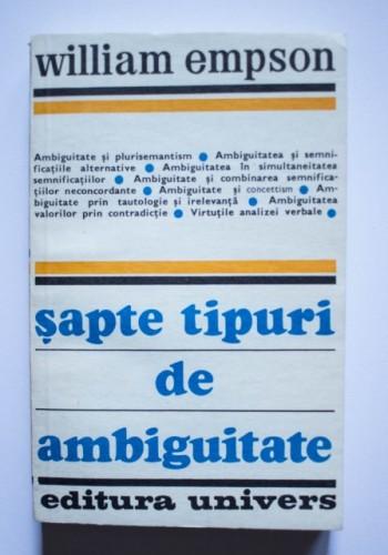 William Empson - Sapte tipuri de ambiguitate