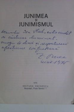 Z. Ornea - Junimea si junimismul (cu autograf)