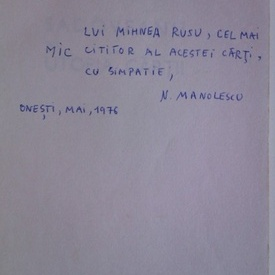 Nicolae Manolescu - Sadoveanu (cu autograf)