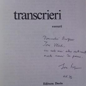 Ion Pop - Transcrieri (cu autograf)