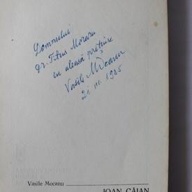 Vasile Mocanu - Ioan Caian (cu autograf)