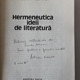 Adrian Marino - Hermeneutica ideii de literatura (cu autograf)