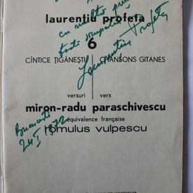 Miron Radu Paraschivescu, Laurentiu Profeta - Cantece tiganesti/Chansons gitanes (cu autograful lui Laurentiu Profeta)