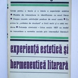 Hans Robert Jauss - Experienta estetica si hermeneutica literara