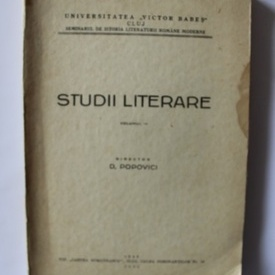 D. Popovici - Studii literare (vol. IV)