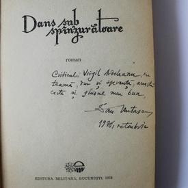 Dan Mutascu - Dans sub spanzuratoare (cu autograf)