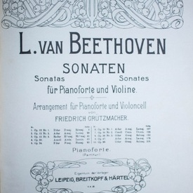 L. van Beethoven - Sonaten fur Pianoforte und Violine (editie hardcover, in limba germana)
