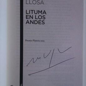 Mario Vargas Llosa - Lituma en los Andes (editie in limba spaniola, cu autograf)