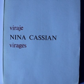 Nina Cassian - Viraje/Virages (editie bilingva romano-franceza, cu autograf)