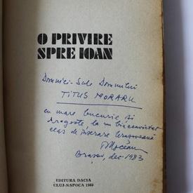 Ovidiu Moceanu - O privire spre Ioan (debut, cu autograf)