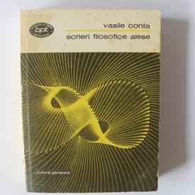 Vasile Conta - Scrieri filosofice alese