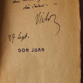 Victor Eftimiu - Don Juan (cu autograf)
