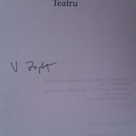Vlad Zografi - America şi acustica (cu autograf)