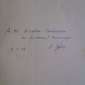 Jean Gyory - Etude sur la chanson de Roland (editie in limba franceza, cu autograf)