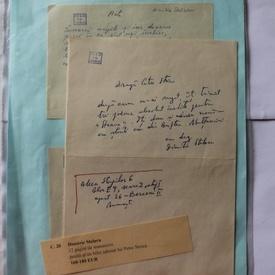 Dimitrie Stelaru - Lot 12 poezii si traduceri in manuscris si o scrisoare catre Petre Stoica