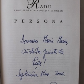Radu Principe de Hohenzollern-Veringen - Persona (cu autograf)