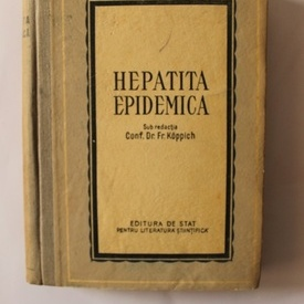 Conf. Dr. Fr. Koppich - Hepatita endemica (editie hardcover)