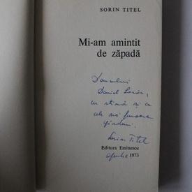 Sorin Titel - Mi-am amintit de zapada (cu autograf)