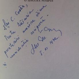Dumitru Dem. Ionascu - O singura noapte (cu autograf)