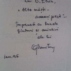 Geo Dumitrescu - Libertatea de a trage cu pusca/The freedom to pull the trigger (editie bilingva romana-engleza, cu autograf)