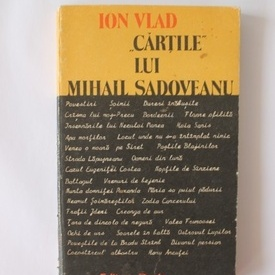 "Ion Vlad - ""Cartile"" lui Mihail Sadoveanu"