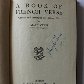 Marc Ceppi - A book of French verse (editie hardcover, interbelica)