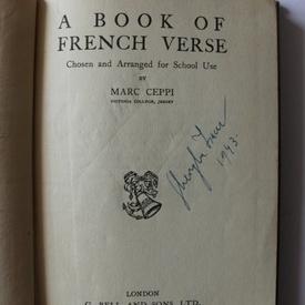 Marc Ceppi - A book of French verse (editie hardcover, interbelica)