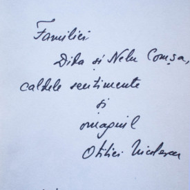 Otilia Nicolescu - Camasile vietii (cu autograf)