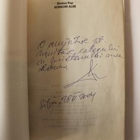 Simion Pop - Scrisori albe (cu autograf)