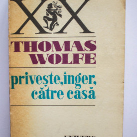 Thomas Wolfe - Priveste, inger, catre casa. Istorie a vietii ingropate
