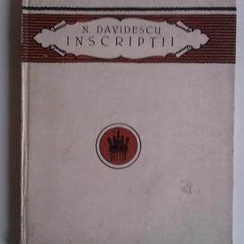 N. Davidescu - Inscriptii (editie hardcover, interbelica)