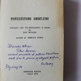 Povestitori ardeleni (cu autograful lui Ion Buzasi)