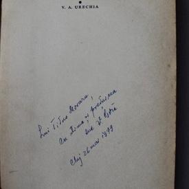 Vistian Goia - V. A. Urechia (debut, cu autograf)